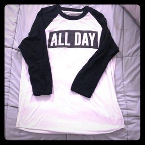 All Day 3/4 sleeve shirt